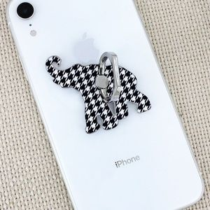 🆕Houndstooth Elephant Cell Phone Grip & Stand